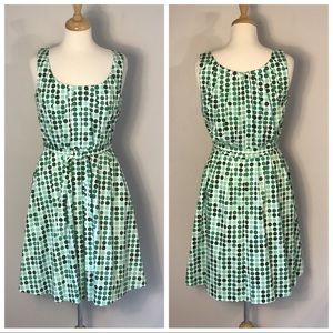 Calvin Klein green polka Dot Dress size 10